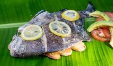 Campervan Cooking – Bream(fish) in Banana Leaf